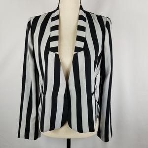 NWT Line & Dot Vertical Striped Lined Blazer
